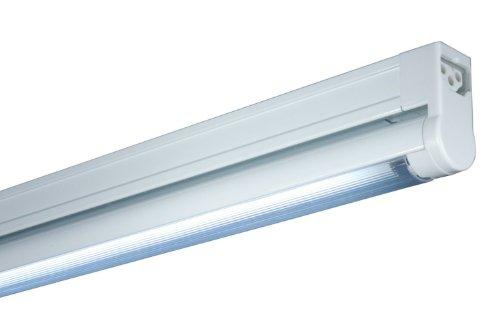 Jesco Lighting Sg4-12/Rd-W Sleek Plus Classic Grounded 12-Watt T4 Light Fixture, Red Color, White Finish