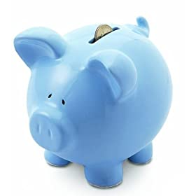Ceramic Piggy Banks (Blue)