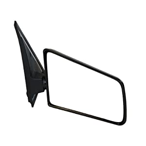 1985-1993 Chevy/Chevrolet S10, GMC S15 Sonoma Pickup Truck, 1985-1994 Chevy/Chevrolet Blazer, GMC Jimmy Manual Black Textured Small Glass (3x5) Rear View Mirror Right Passenger Side (1985 85 1986 86 1987 87 1988 88 1989 89 1990 90 1991 91 1992 92 1993 93 1994 94)