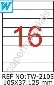 TANEX tW - 2105/étiquettes universelles blanc 105 x 37,125-eckig- mm 25 feuilles de format a4