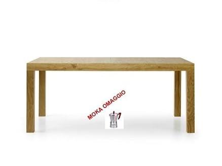 TABLES&CHAIRS tavolo da pranzo legno naturale allungabile rovere consumato 656 160x90x77