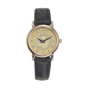 University of Virginia - Ladies 18K Gold 7M Watch Black