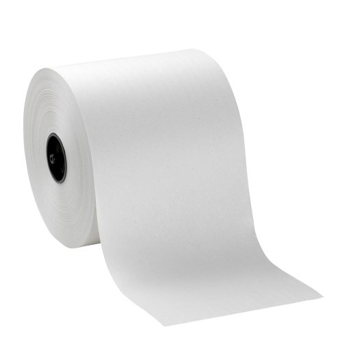 Hardwound Roll Paper Towel, Nonperforated, 7.8 x 1000 ft, White, 6/Ctn, Sold as 1 Carton