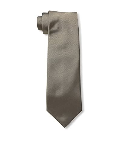 Valentino Men's Solid Silk Tie, Taupe, One Size
