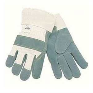 MCR Safety 1500KS Side Kick Cow Leather Sewn Kevlar Palm Gloves with 2-1/2-Inch Rubberized Safety Cuff, Natural Pearl, Small