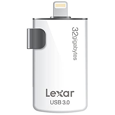 Lexar JumpDrive M20i 32GB Mobile Lightning/USB 3.0 Flash Drive - LJDM20I-32GBBNL