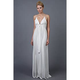 Nicole Miller, flowing silk wedding dress