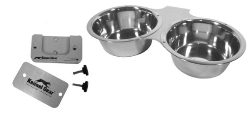 Kennel-Gear Double Bowl With Stainless Steel Yoke, 1-Quart front-873500