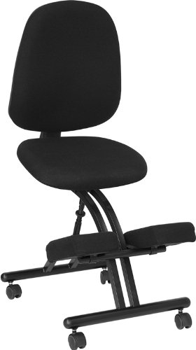 Flash Furniture WL-1428-GG Mobile Ergonomic Kneeling Posture Chair in