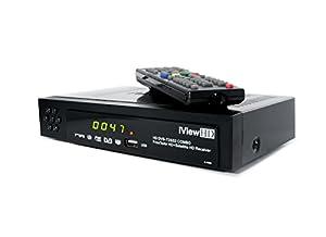 Nouveau FULL HD TNT HD Enregistreur numérique Terrestre Décodeur récepteur & 1080P USB Lecteur multimedia & Canal TV Recorder DVB-T2 ( HDMI + Scart Out) MPEG4 H.264 (4in1) iView HD