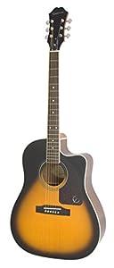 Epiphone AJ-220SCE Acoustic Electric Guitar, Vintage Sunburst