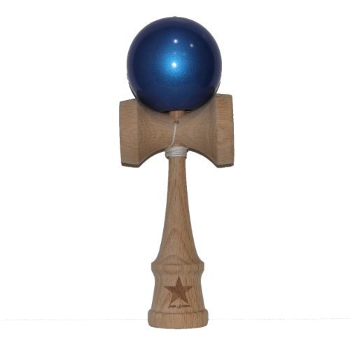 Super Kendama Metalic Blue Ball And Extra String