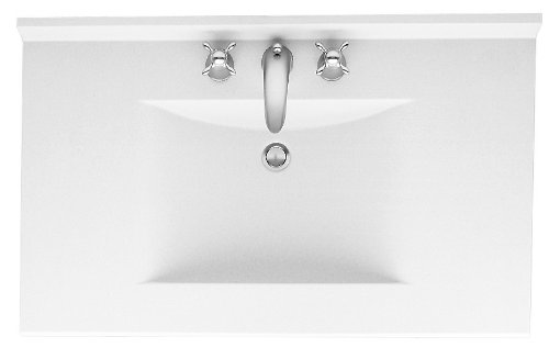 Swanstone CV2249-010 49-Inch by 22-Inch Contour Vanity Top, White Finish