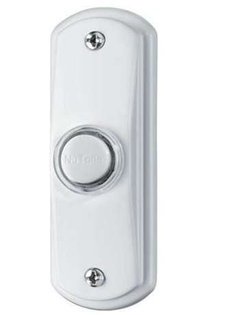 NuTone PB53LWH Wired Lighted Door Chime Push Button, White (Nutone White compare prices)