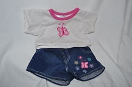 Build a Bear Dress Me Butterfly Shorts Set - 1