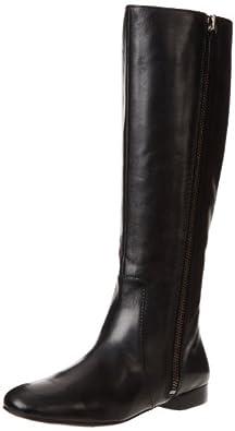(新品)Nine West Women's Port Riding Boot$玖熙女士真皮长靴199酒红