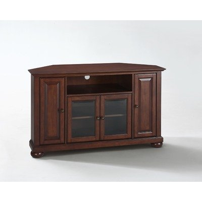 Crosley Furniture Alexandria 48-Inch Corner TV Stand, Vintage Mahogany