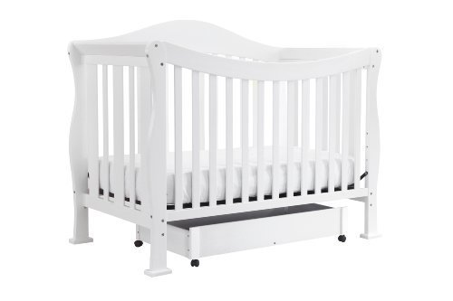 DaVinci Parker 4 in 1 Crib with Toddler Rail, Pure White