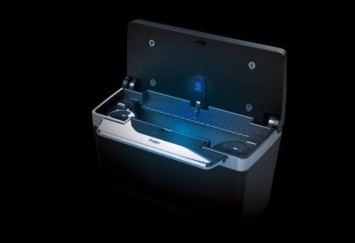 ミラリード 車用 灰皿 ドア掛けソーラーアッシュ2 ドア吊り下げ型 ブラック LED付き SP-186