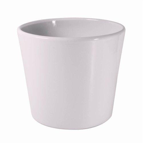 White Ceramic Pot Dida 15 cm