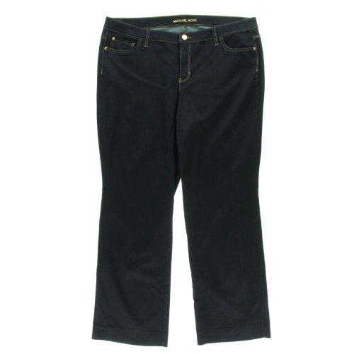 Michael Kors Womens Plus Denim Twilight Wash Flare Jeans Navy 16W