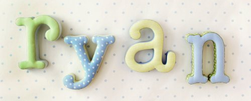 Fabric Wall Letters For Nursery