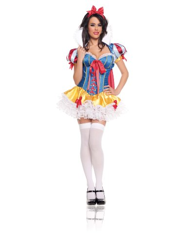 Starline Women's Snow White Deluxe Costume Set, Blue/Red, Small