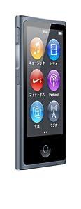 最新モデル 第7世代 Apple iPod nano 16GB スレート MD481J/A
