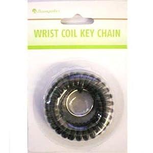 Wrist Coil Key Chain, Black (BAUKC7011)