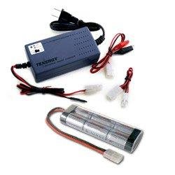 Combo: Tenergy Smart Universal Charger: 7.2v-12v (#01005) + 7.2v 5000mah NiMH Battery Pack w/ Tamiya