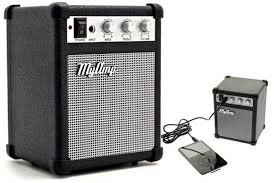 Portable Mini Speaker Guitar Amplifier Shaped Mp3 and Computer Speaker My Amp Retro Black Color