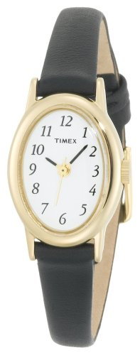 Timex Women's T21912 Classic Cavatina Black Leather Strap Watch