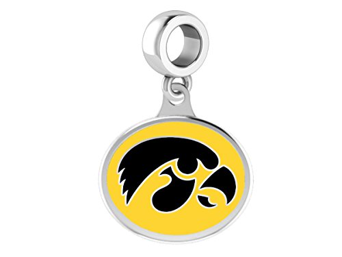 Iowa Hawkeyes Drop Charm Fits Fits All European Style Beaded Charm Bracelets