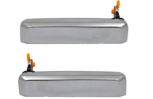PT Auto Warehouse NI-3193M-FP - Outside Exterior Outer Door Handle, Chrome - Front Left/Right Pair (1993 Nissan D21 Door Handle compare prices)
