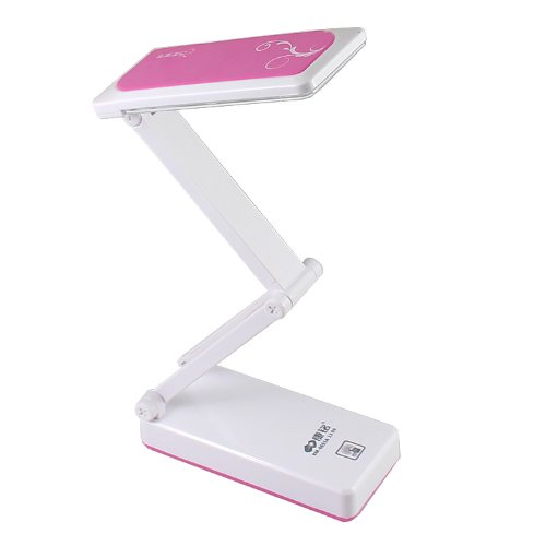 Kamisafe 28 Led Foldable Rechargable Reading Desk Table Lamp Light Touch Control Pink