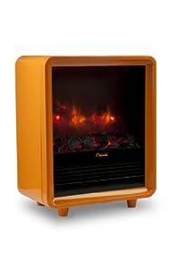 Crane Mini Fireplace Heater, Orange