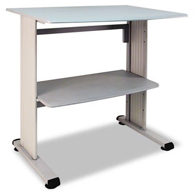 Buddy Products Stand Up Workstation With Beveled Edge, 26.5 X 39.75 X 36.75 Inches, Gray (6461-18)