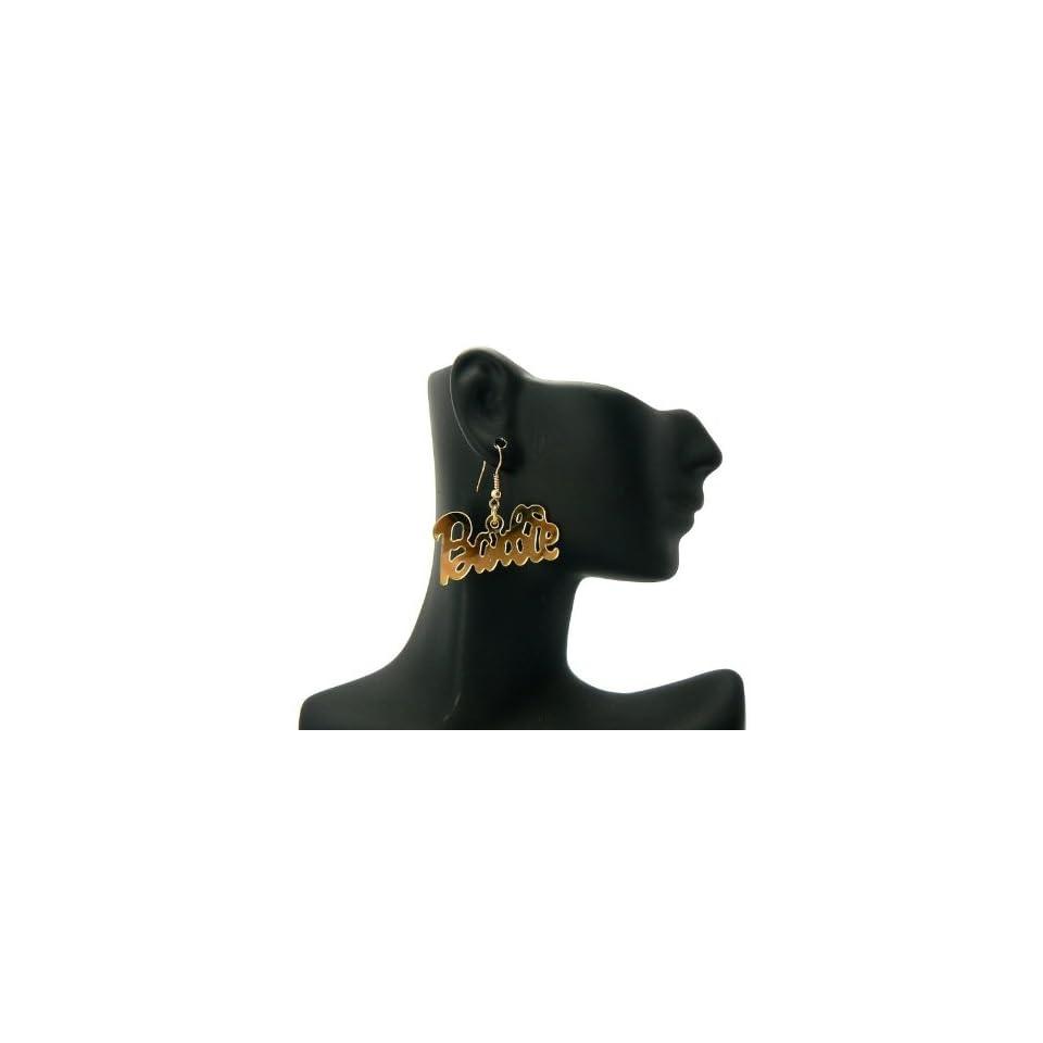 New NICKI MINAJ BARBIE Hook Mirror Polished Gold Earring