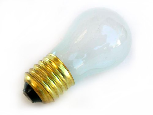 25W Frosted Incandescent Appliance Lamps A15 Light Bulb E26 Medium Base 130V (6/Pack)