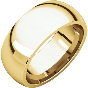 10K Yellow Gold 8Mm Comfort Fit Wedding Band