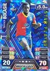 Match Attax 2013/2014 Yannick Bolasie Crystal Palace Star Player 13/14