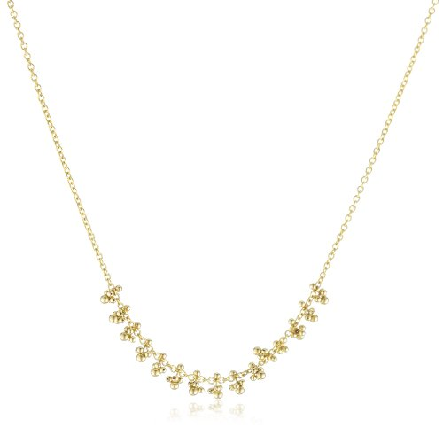 Mizuki 14k Cable Chain Necklace with Gold Beads