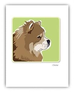 Grrreen Single Note Card - Chow Profile *** (PAGNC598) -