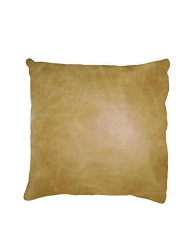 Sienna Leather Pillow, Tan