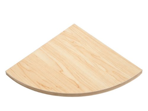 New Natural Wood Wooden Corner Shelf Wall Mounted Storage