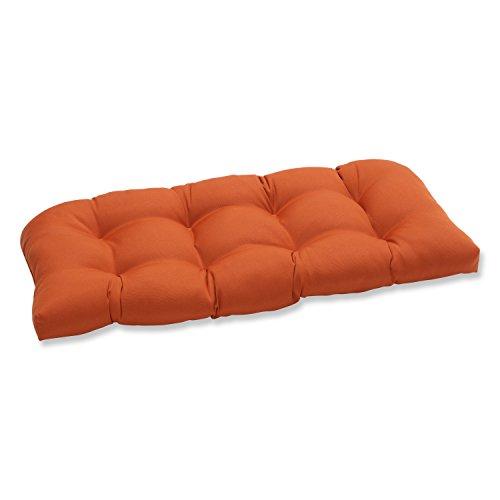 Pillow Perfect Indoor/Outdoor Cinnabar Wicker Loveseat Cushion, Burnt Orange (Orange Outdoor Cushions compare prices)