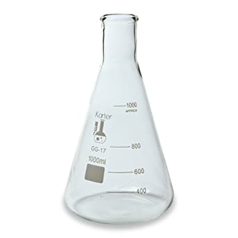 213G22 Karter Scientific 1000ml Narrow Mouth Erlenmeyer Flask