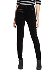 M&S Collection Zipped Velvet Jeggings