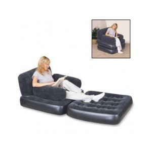 chauffeuse lit d 39 appoint 1 personne pouf chaise longue matelas gonflable cuisine. Black Bedroom Furniture Sets. Home Design Ideas