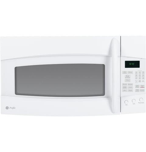 GE PVM1970DRWW Profile 1.9 Cu. Ft. White Over-the-Range Microwave
